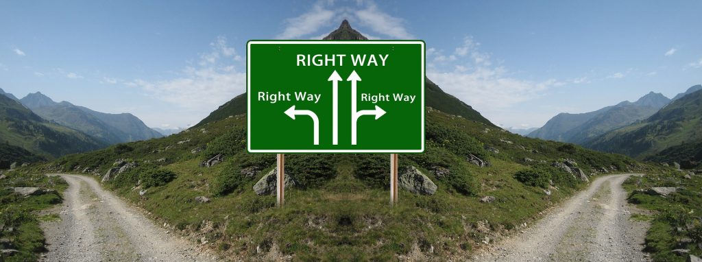 Sign: which decision is the right way