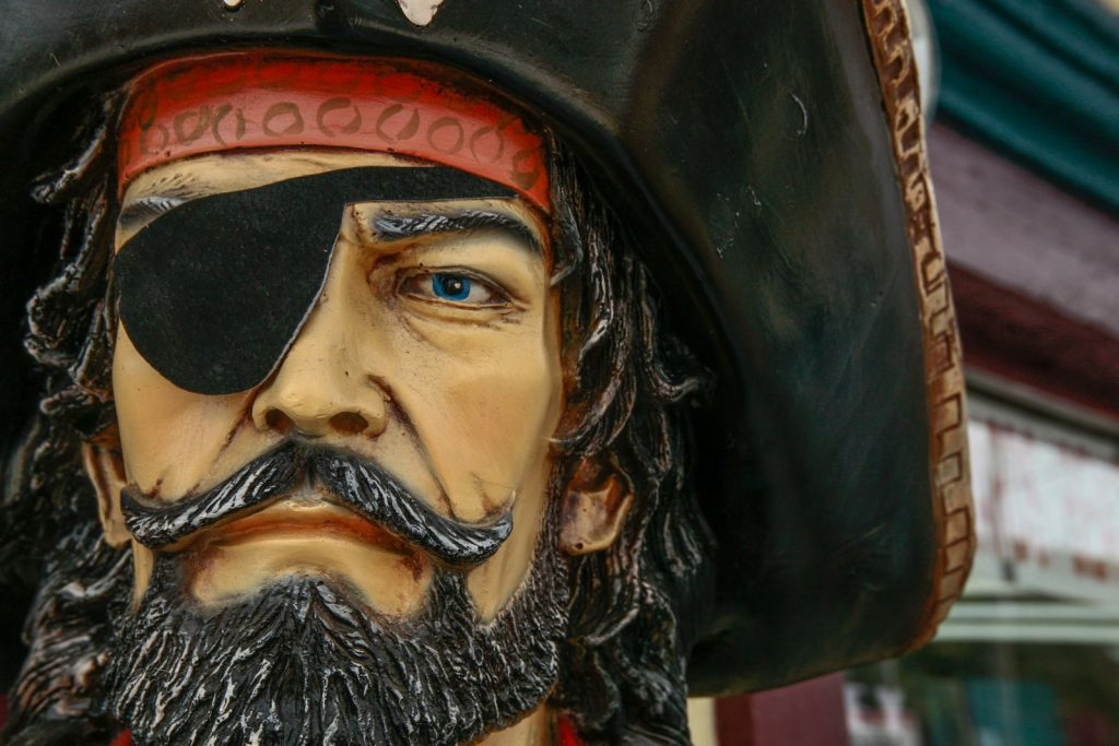 Close up picture of pirate face